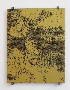 Simon Halfmeyer, Siebdruck gold, 2014