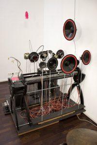 Kathrin Haassengier, Objekteensemble, Ausstellungsansicht galerie postel, 2017