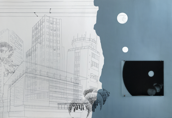 Simon Halfmeyer, Wandzeichnung, Münster 2010 (Ausschnitt)