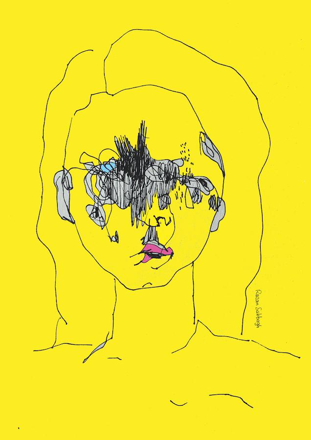 Razan Sabbagh, Selfportrait, print ed., 2020